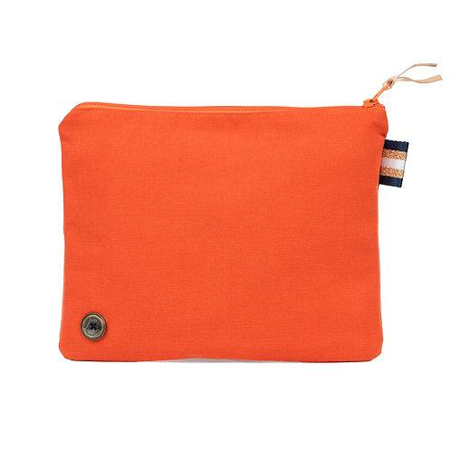 Trousse de Toilette SLIM - Orange - Personnalisable