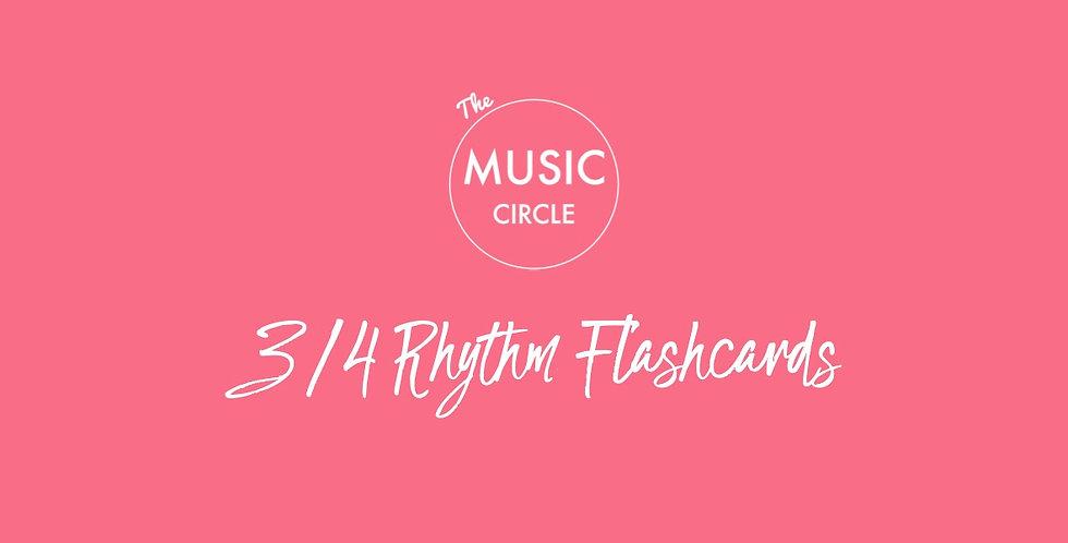 3/4 Rhythm Flashcards