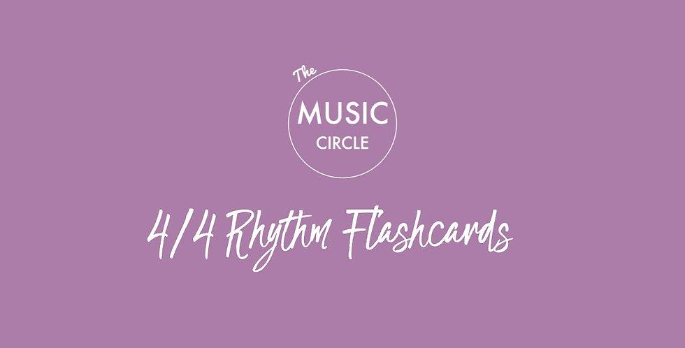4/4 Rhythm Flashcards