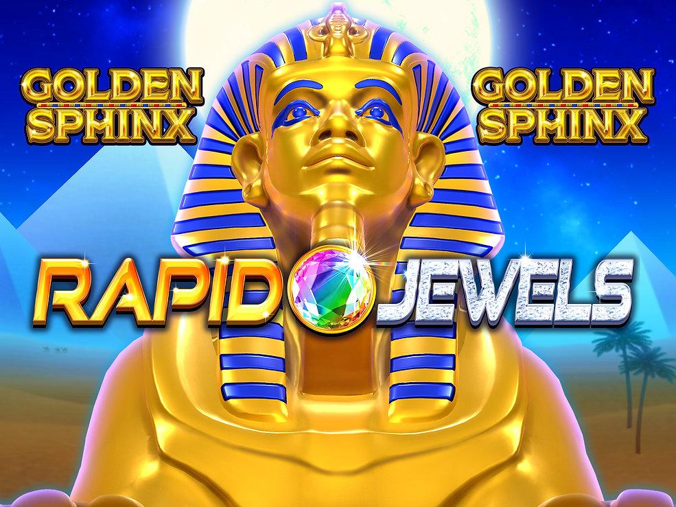 Logo Large - Rapid Jewels Golden Sphinx.