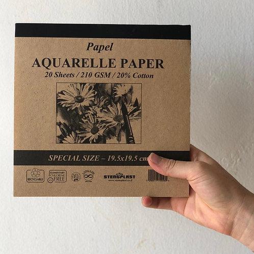 בלוק נייר לצבעי מים 20 דפים