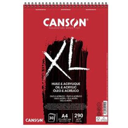 בלוק נייר A3 לצבעי אקריליק ושמן CANSON