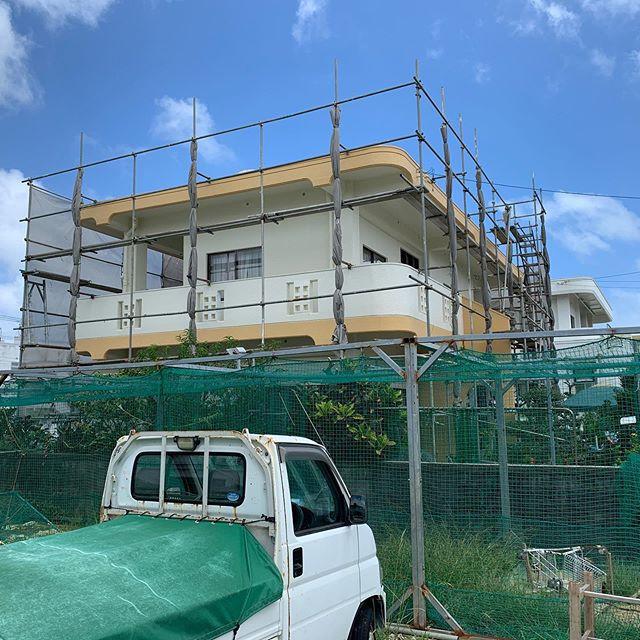 2019.08.24 ティーダペイントです。本日の施工状況報告です。