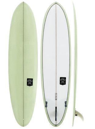 "7'6"" Volume 50.96L. CREATIVE ARMY HUEVO MID-LENGTH PU SURFBOARD"