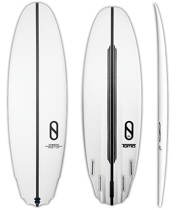 5'5 Volume 28.4 liters Slater Designs Cymatic
