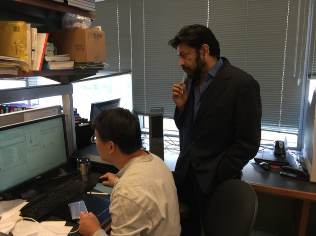 Dr. Mukherjee in his lab