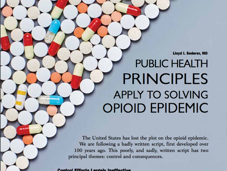 A Public Health Approach to the Opioid Epidemic