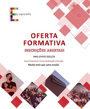 Inscrições Abertas - Oferta Formativa 21/22 - Esprominho - Braga