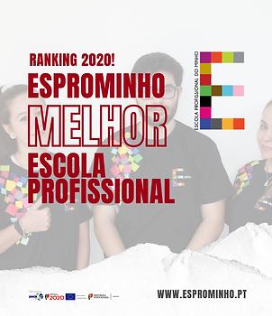 Melhor Escola Profissional - Ranking de Escolas 2020 - Esprominho - Braga