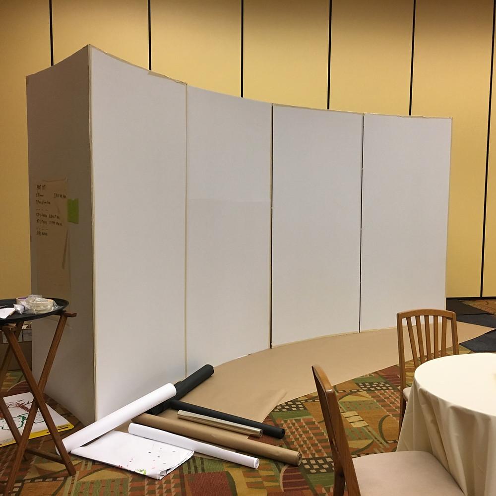 blank cardboard walls