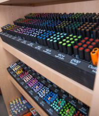 Why does Austin Creative Reuse have brand new markers? And what is Neuland?