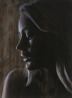 Rone--'Not Enough'-Mixed Media on Canvas
