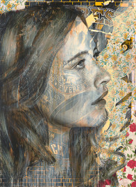 Rone-2014-'Daisy'-Mixed Media on Canvas