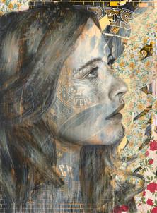Rone-2014-'Daisy'-Mixed Media on Canvas