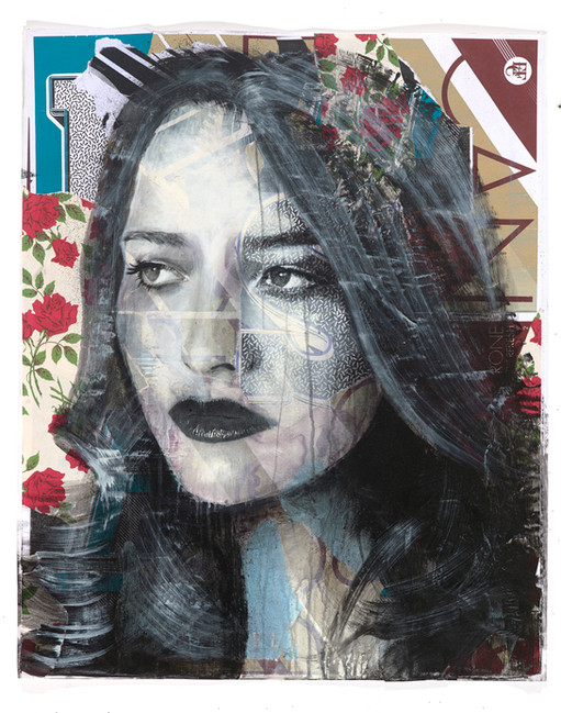 Rone-2014-'Carnation'-Mixed Media on Pap