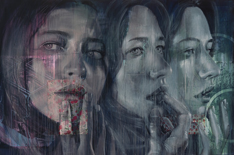 Rone-2014-'Faith No More'-Mixed Media on