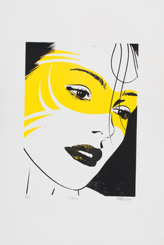 Rone--'Masked Clara (small) (screenprint