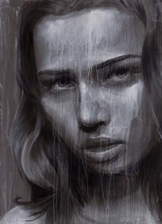 Rone--'Dark Skies'-Mixed Media on Canvas