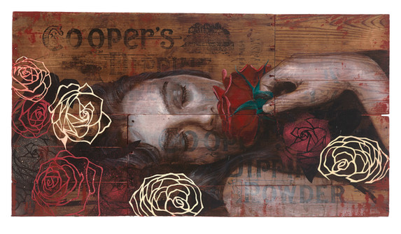 Rone-2014-'Rose Dream'-Mixed Media on re