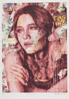 Rone--'HYDRANGEA RED (screenprint)'-8C h