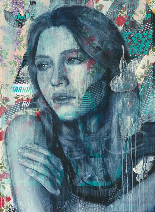 Rone-2014-'Hydrangea'-Mixed Media on Can