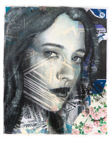 Rone-2014-'Peonies'-Mixed Media on Paper