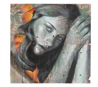 Rone-2014-'Lily'-Mixed Media on reclaime