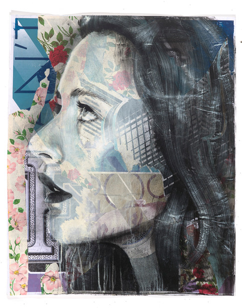 Rone-2014-'Foxglove'-Mixed Media on Pape