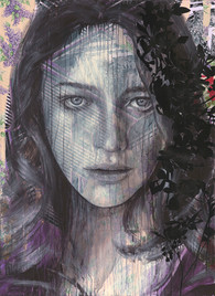 Rone-2014-'Lavender'-Mixed Media on Canv