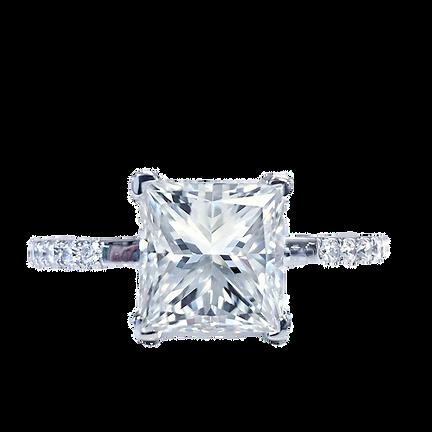 Princess Diamond Engagement Ring White Gold Diamond Wedding Ring