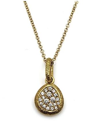 Mini Diamond Pebble Necklace
