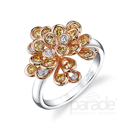 Reverie Fancy Diamond Cluster Ring