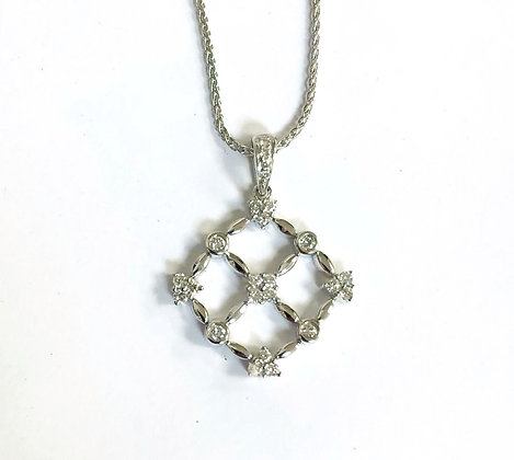 Quilted Diamond Pendant