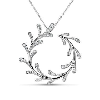 18kt Diamond Circled Feather
