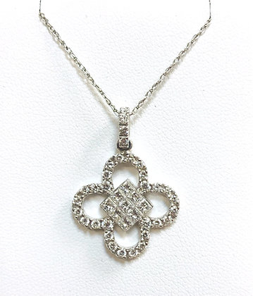 Invisible Set Diamond Pendant