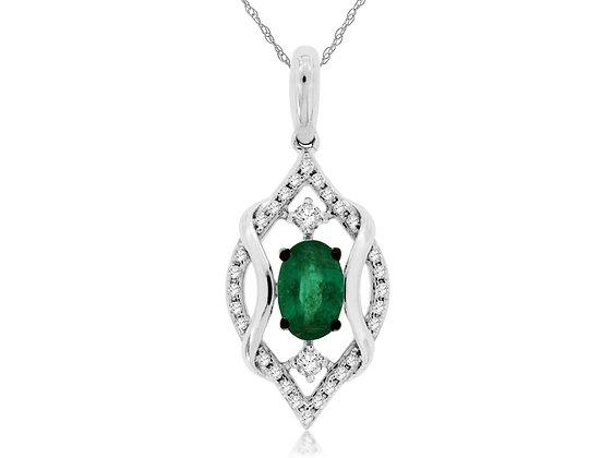 Enchanting Emerald and Diamond Pendant