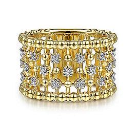 Bujukan Ball and Diamond Statement Ring