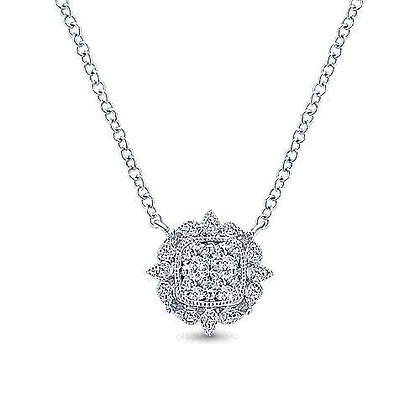 Vintage Inspired Diamond Pendant Necklace