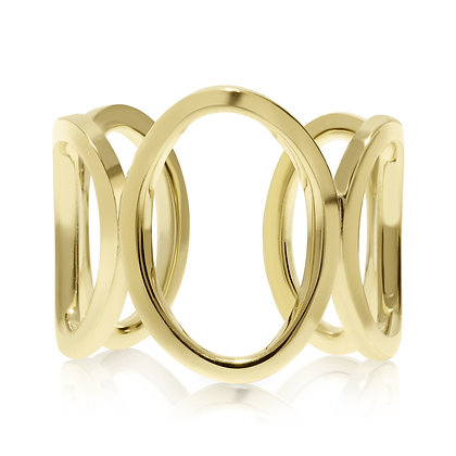 Five Circle Open Gold Ring