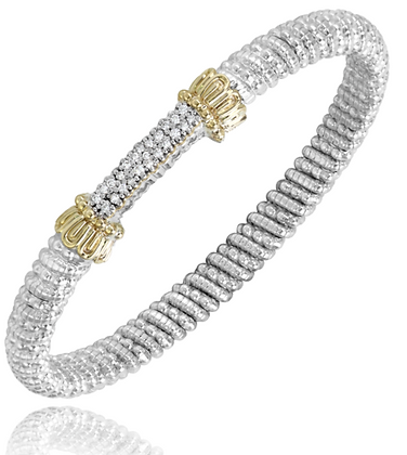 Vahan Diamond Cluster Bar Bangle