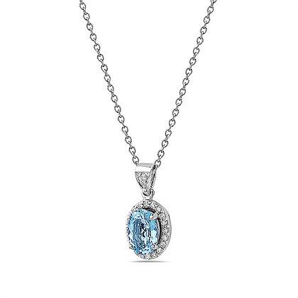 Ocean's Water Diamond Pendant