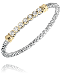Vahan Cubic Zirconia Prong Set Bangle
