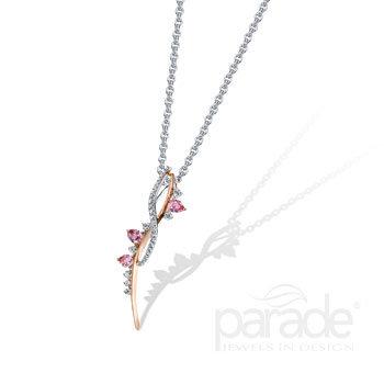 Twisted Sapphire and Diamond Pendant
