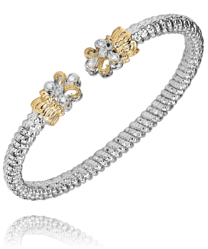 Vahan Fleur-De-Lys Diamond Bangle