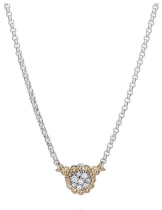 Vahan Diamond Cluster Circle Pendant