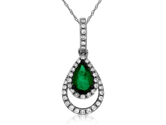 Double Drop Diamond and Russalite Pendant
