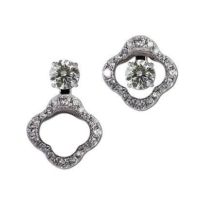 14kt Diamond Petal Earring Jackets