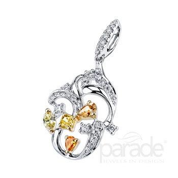 Reverie Floral Fancy Diamond Pendant