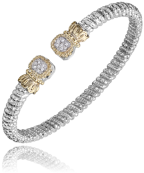 Vahan Square Cluster Diamond Bangle