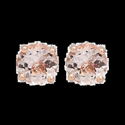 1.54ct Round Morganite Stud Earrings
